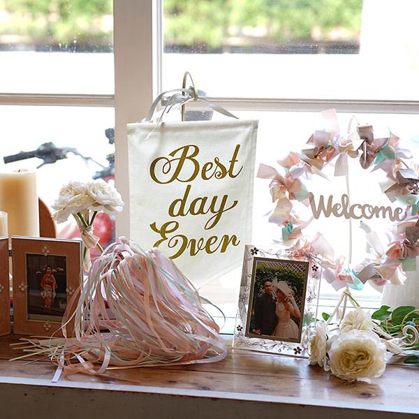 ウェディングフラッグ 結婚式 ガーランド 飾り付け 受付 ウェルカムスペース